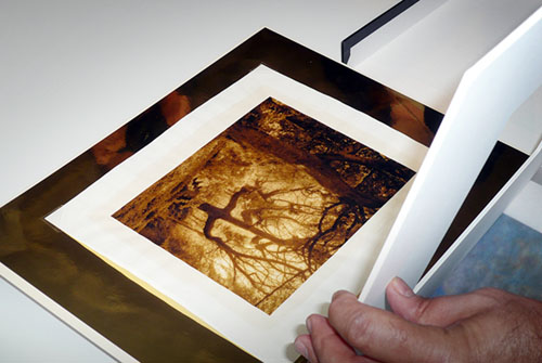 Bill Kennedy showing his innovative and stunning sepia print process